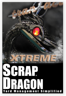 Recycling center software, scrap yard software, Scrap Dragon Xtreme Metal Recycling Software